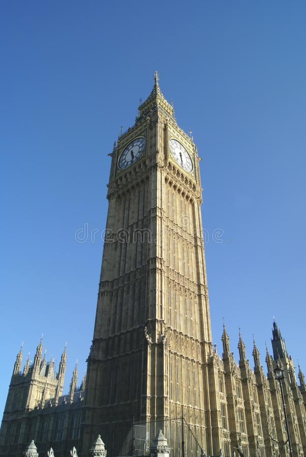 Clock tower, Big Ben, Elizabeth Tower in Westminster, London, England, Europe royalty free stock photography