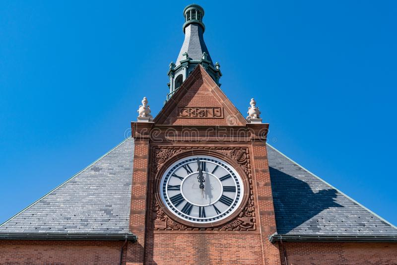 Clock Tower of the Central Railroad of New Jersey Terminal royalty free stock photos