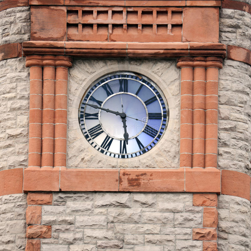 Clock Tower in Cheyenne. Clock Tower in downtown of Cheyenne stock photography