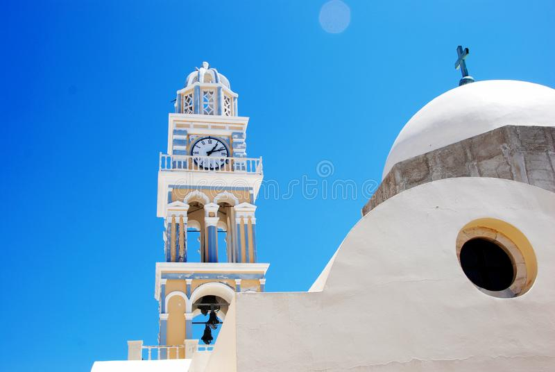 Download Clock Tower At The Church - Santorini Stock Image - Image of travel, island: 8512703