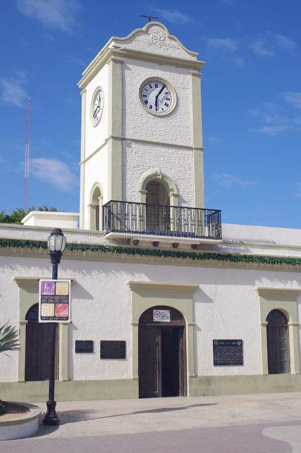 Clock tower of City Hall stock photography