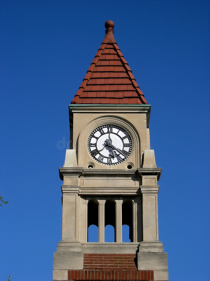 Download Clock tower detail. stock photo. Image of monument, blue - 163628