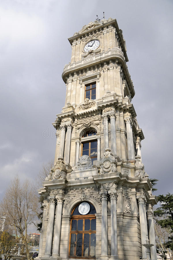 Download Clock Tower Dolmabahce, Istanbul Stock Photo - Image: 17974740