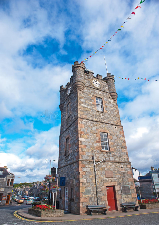 Download Clock Tower In Dufftown, Scotland Editorial Image - Image of building, centre: 27060380