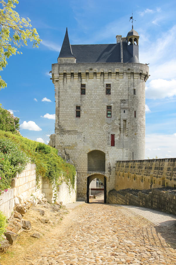 The Clock Tower. Fortress. Chinon. France royalty free stock image
