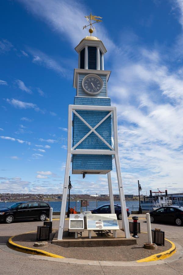 Clock Tower of Halifax i Kanada arkivfoto