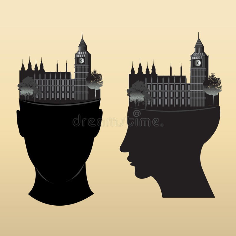 Download Clock tower on head stock vector. Illustration of image - 32500533