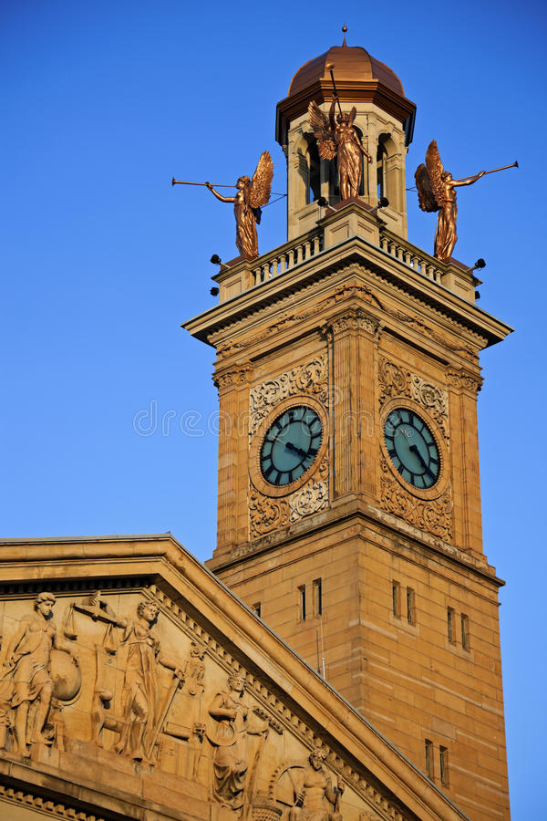 Free Clock Tower In Canton, Ohio Royalty Free Stock Photography - 21851867