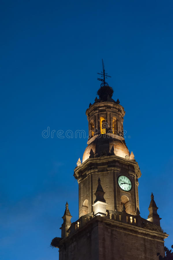 Free Clock Tower In The Night Royalty Free Stock Photos - 91499618