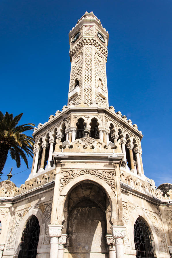 Clock tower from Izmir royalty free stock photo