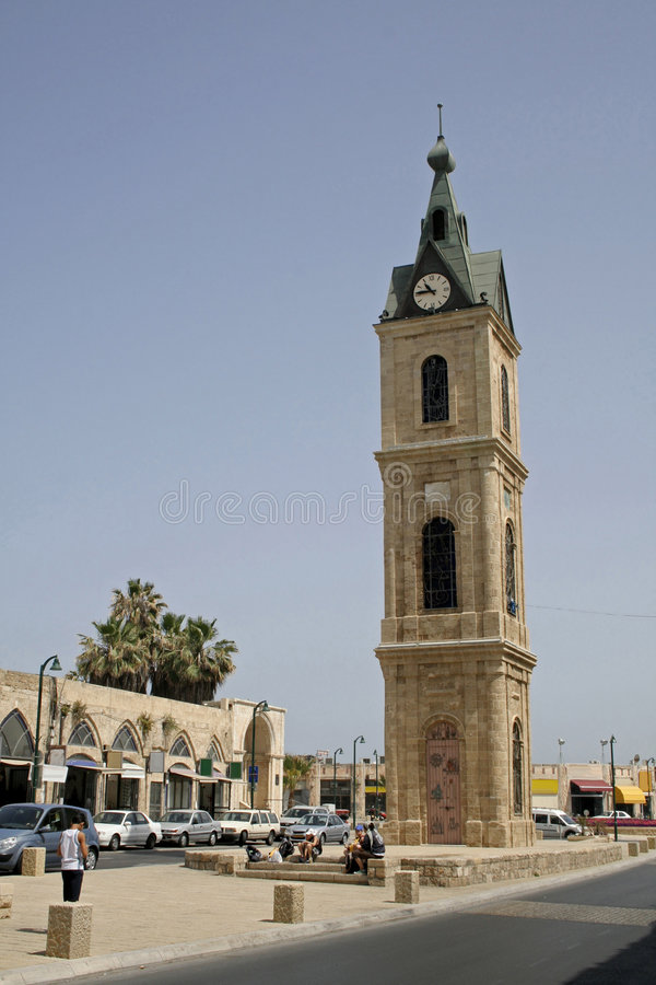 Clock tower in Jaffa royalty free stock photo
