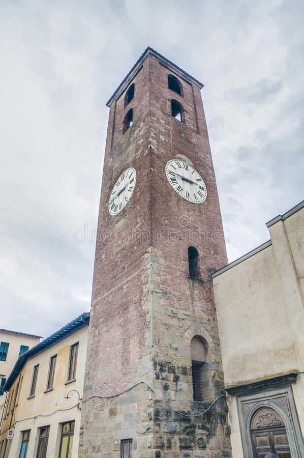 Clock Tower In Lucca, Tuscany Province, Italy Stock Images