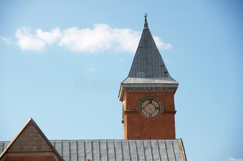 Clock Tower of Market, Vyborg, Russia royalty free stock image