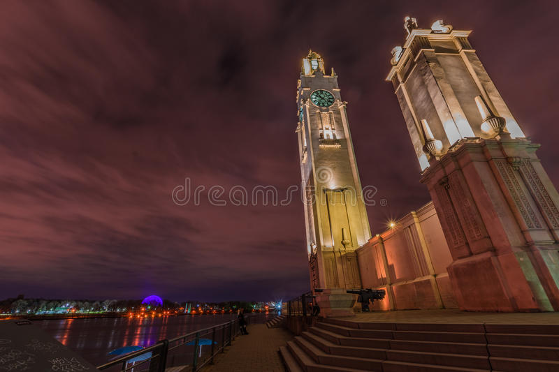 Clock tower of Montreal royalty free stock photo
