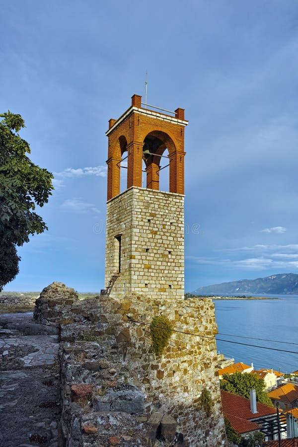 Clock tower in Nafpaktos town, Greece. Clock tower in Nafpaktos town, Western Greece royalty free stock photo