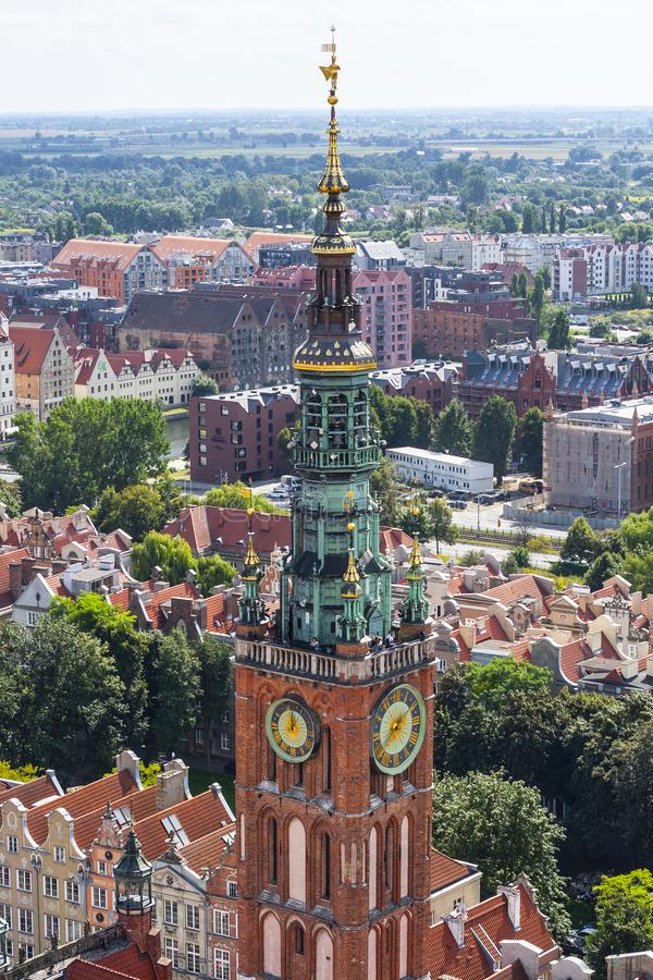Free Clock Tower Of Gdansk Town Hall Royalty Free Stock Photo - 163963425