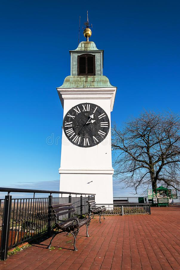 Free Clock Tower On The Petrovaradin Fortress Stock Photography - 107078312