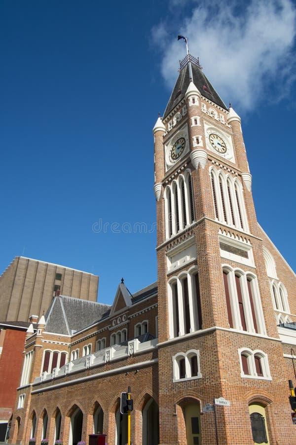 Clock tower, Perth, Australia stock photos