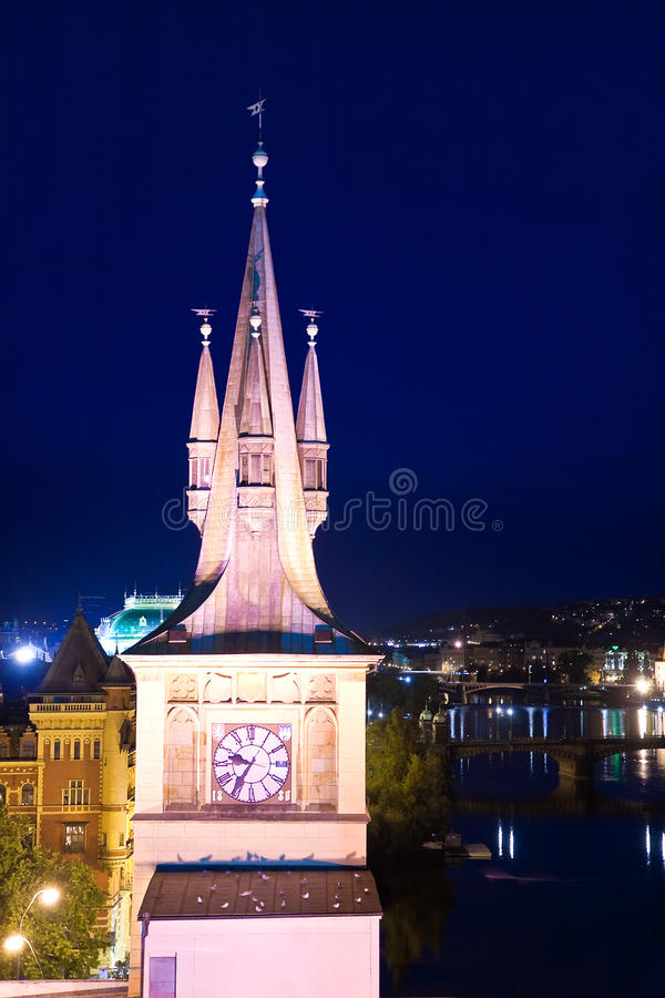 Download Clock Tower in Prague stock image. Image of empty, bridge - 12431015