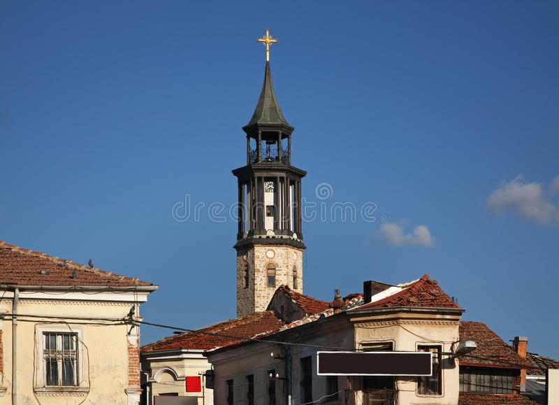 Clock tower in Prilep. Macedonia.  stock photo