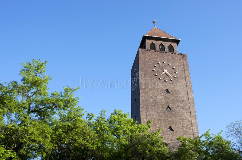 Clock tower - RAW format royalty free stock photography