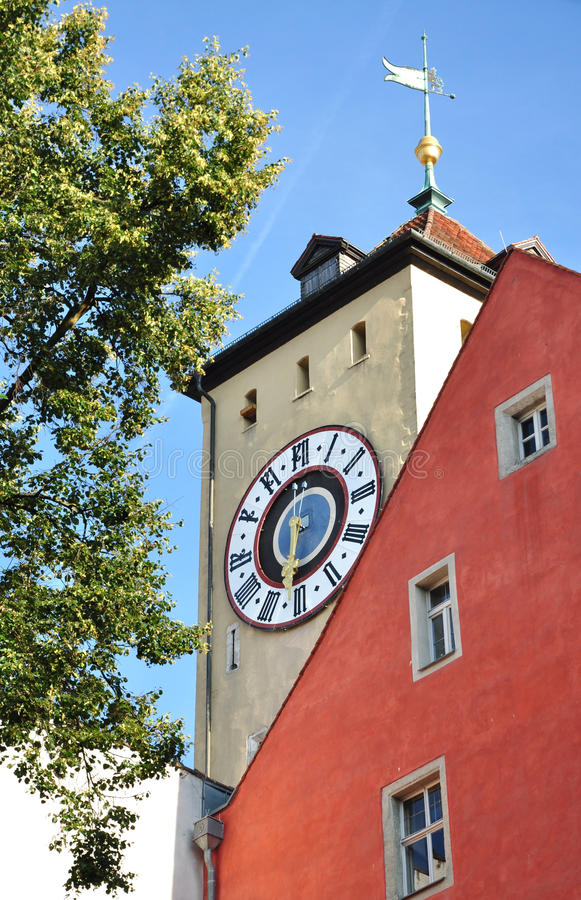 Download Clock Tower In Regensburg, Germany Stock Photo - Image: 33056342