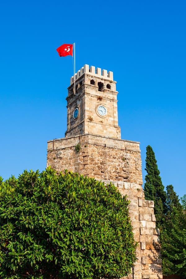 Clock Tower Saat Kulesi, Antalya royalty free stock photography
