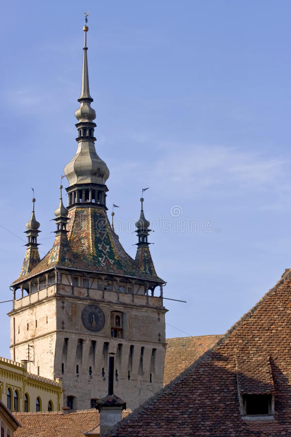Download The Clock Tower From Sighisoara Stock Image - Image of colorful, transylvania: 17291717