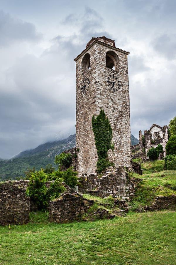 Clock Tower in Stari Grad. (Old Town), Bar, Montenegro royalty free stock image
