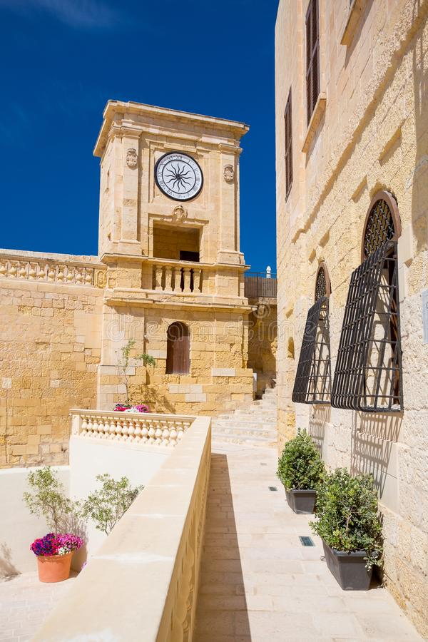 Clock tower Victoria, Gozo, Malta royalty free stock image