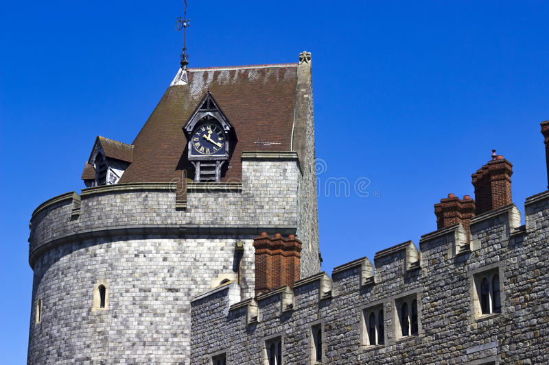 Clock Tower of Windsor Castle royalty free stock photo