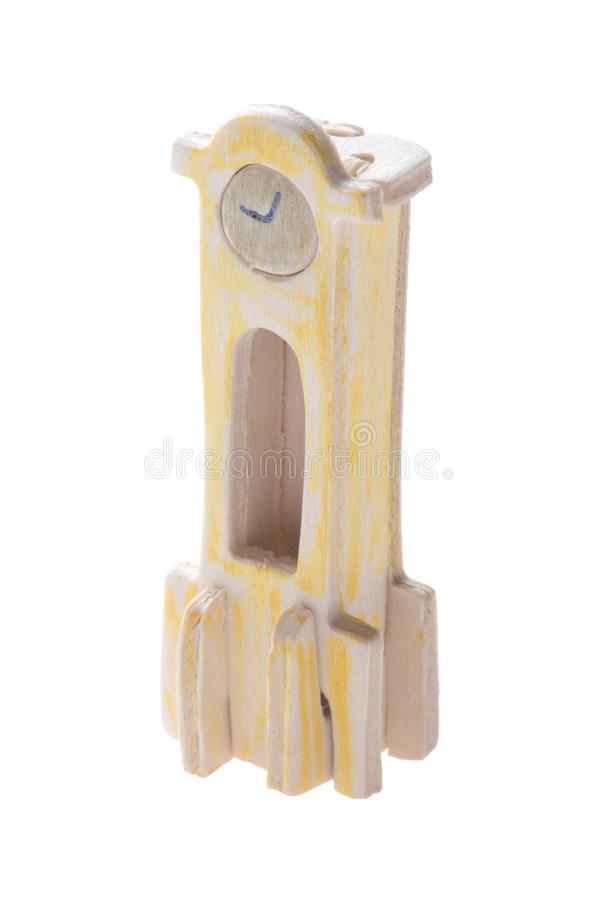 Download Clock toy stock image. Image of wood, wooden, craftsmanship - 12334421