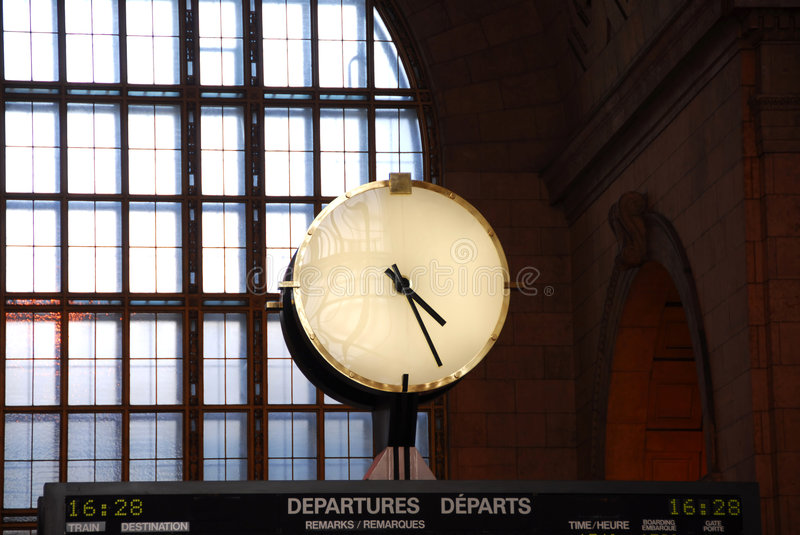 Download Clock train station stock photo. Image of hour, concept - 1363058