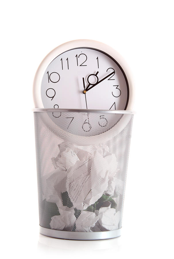 Download Clock in trash stock photo. Image of office, garbage - 16751440