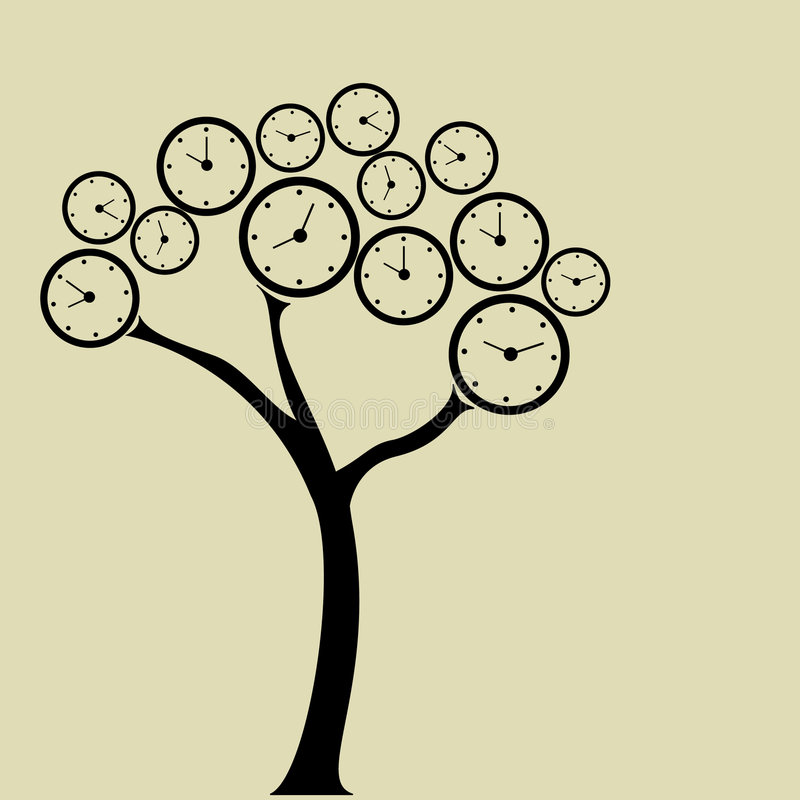 Download Clock tree stock vector. Illustration of hour, past, pattern - 6943026