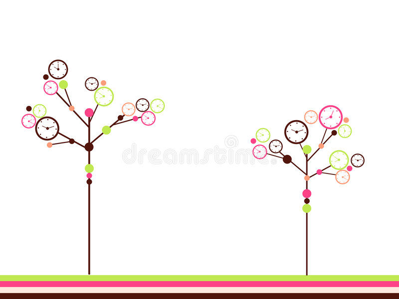 Download Clock Trees Royalty Free Stock Image - Image: 8340576