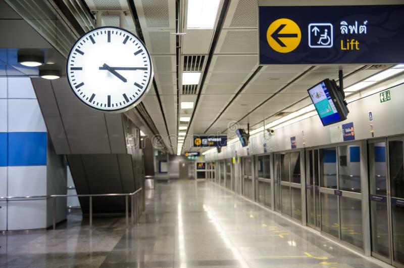 Download Clock On The Underground Railway Stock Photo - Image: 29132244