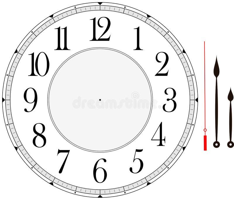 Clock vänder mot royaltyfri illustrationer