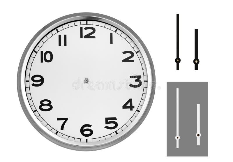 Clock vänder mot arkivbild