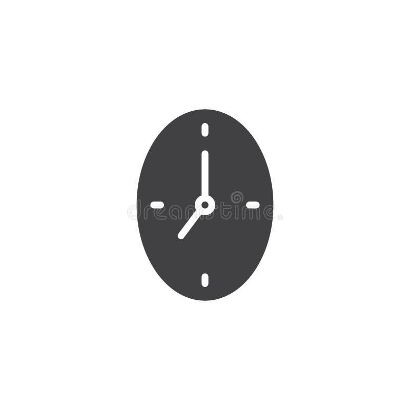 Clock vector icon stock illustration