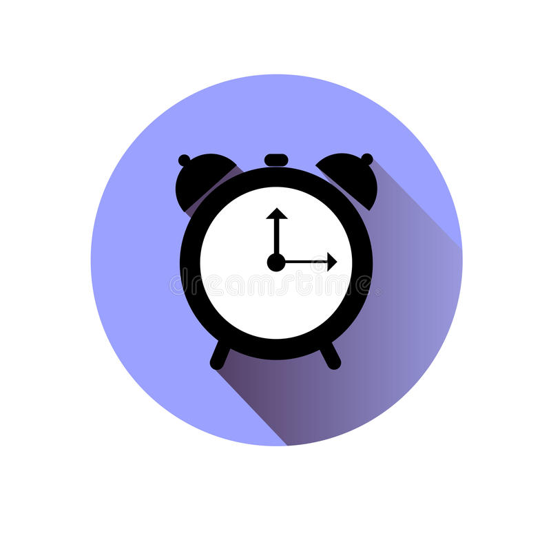 Clock vector time minute illustration alarm. Hour royalty free illustration