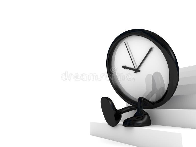 Clock waiting vector illustration