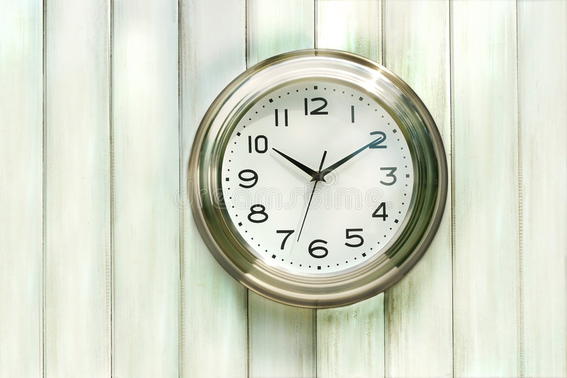 Clock on the wall stock photo