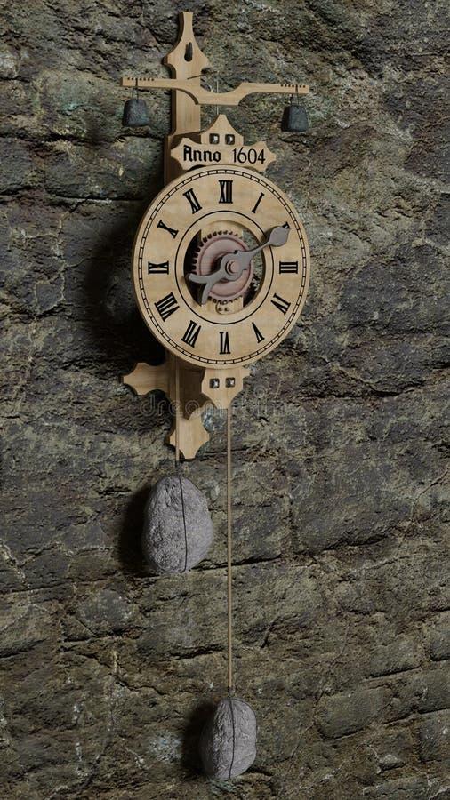 Clock, Wall Clock, Wood, Metal royalty free stock images