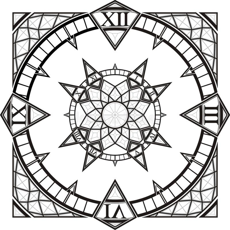 Download Clock Watch Gothic Tattoo Compass Vector Stock Vector - Image: 9825944