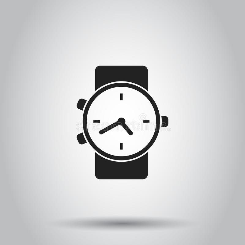 Clock watch icon. Vector illustration on isolated background. Bu vector illustration