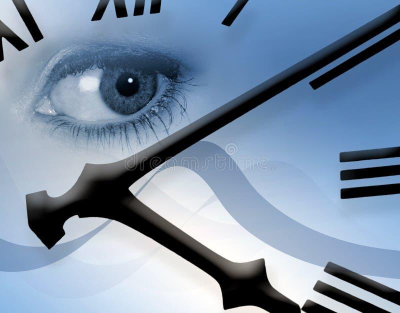 Clock watching royalty free illustration