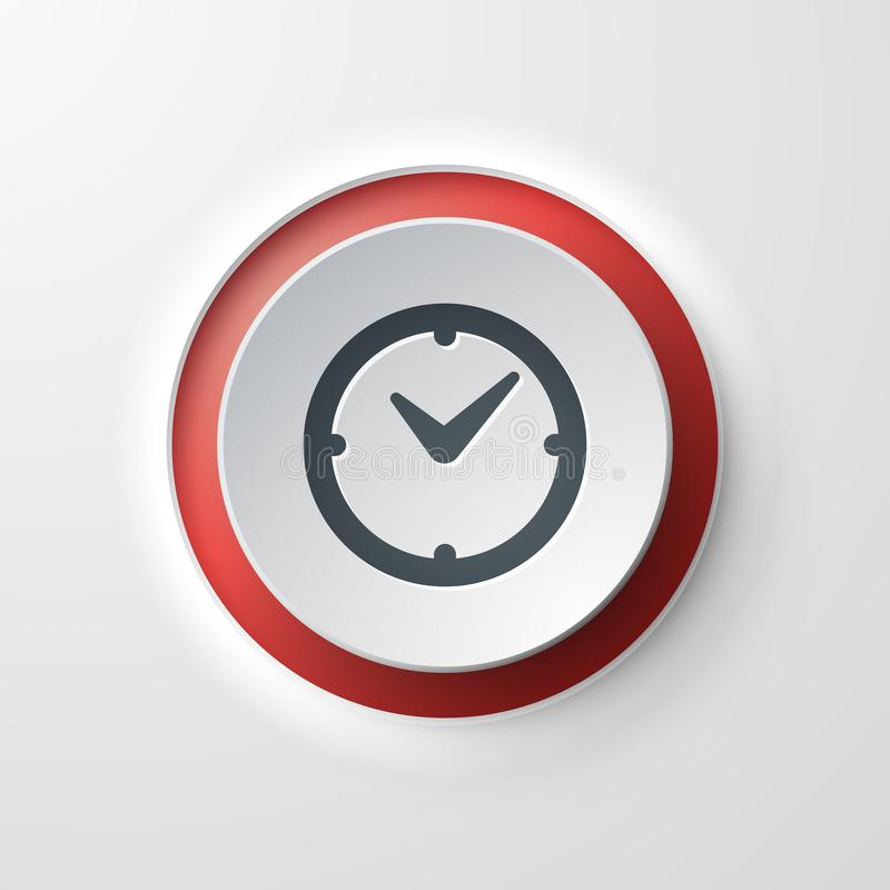 Clock web icon royalty free illustration