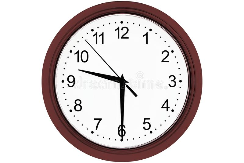 Clock on a white background stock photo