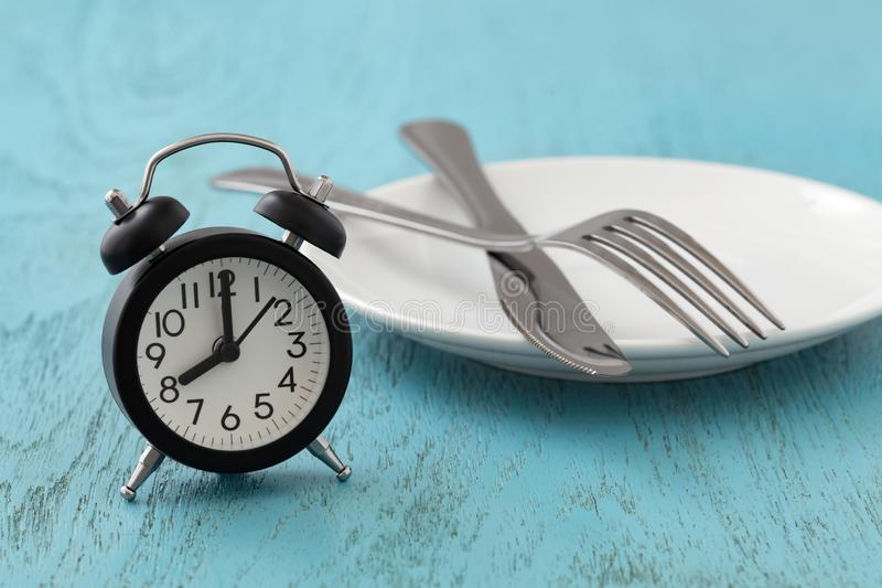 Intermittent fasting, diet, weight loss concept royalty free stock photo